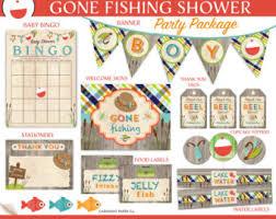 fishing themed baby shower fishing baby shower etsy