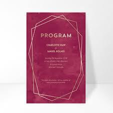 wedding program fans vistaprint wedding invitations custom wedding stationery vistaprint