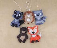 woodland animals felt ornaments crib mobile kit woodland