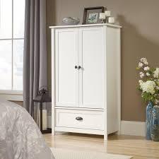 White Wardrobe Closet Wood Armoire Wardrobe Clothes Closet Bedroom Home Storage Cabinet