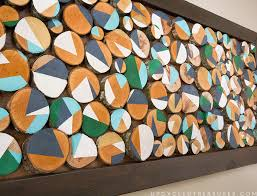 Upcycled Art - how to make wood slice art from branches mountainmodernlife com