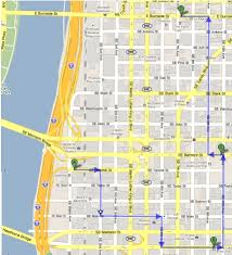 Downtown Portland Map by Beervana July 2011