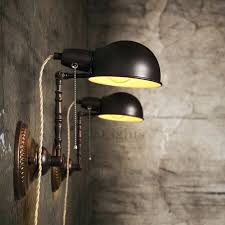 Industrial Wall Sconce Industrial Wall Lights Industrial Style 1 Light Wall Sconce In