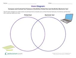 venn diagram compare and contrast text features of nonfiction
