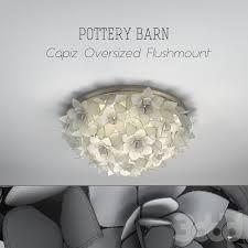 capiz flush mount light pottery barn capiz oversized flushmount 3d models pinterest