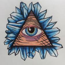 colorful illuminati eye tattoo design by christopher gray