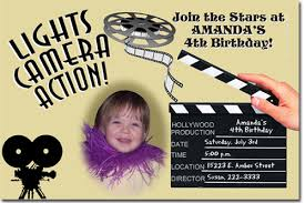 movie hollywood birthday invitations candy wrappers thank you