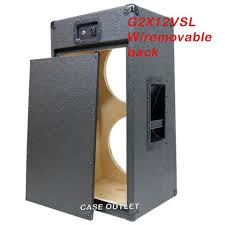 case outlet speaker cabinets greg s pro audio 2x12 charcoal black tolex vertical guitar cabinet