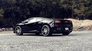 Lamborghini Gallardo Back - wallpaper back side view of a black lamborghini gallardo car on