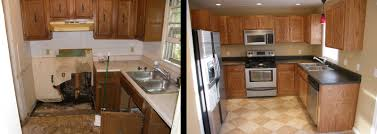 kitchen makeovers before and after photos white