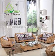 Wicker Indoor Sofa High Quality Modern Balcony Sunroom Wicker Indoor Natural Rattan
