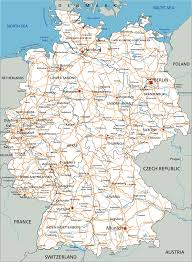 Germany Physical Map by Map Germany