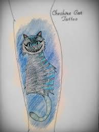 cheshire cat tattoo design by gothunicorn919 on deviantart