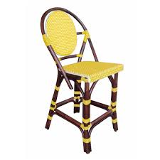 Yellow Bistro Chairs Furniture Bistro Counter Stool Yellow By Padma S Plantation
