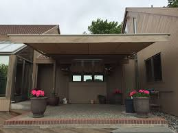 Motorized Awnings Retractable Awning On Mid Century Home Northwest Shade Co