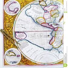 Antique World Map by Antique World Map With Divider Stock Photo Image 7947910