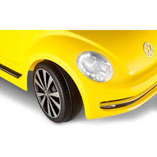 volkswagen buggy yellow kid trax vw beetle convertible 12 volt battery powered ride on