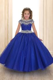 royal blue sweetheart short sleeve rhinestone beaded ball gown dress