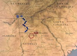 Atlanta On Map by Maps The Civil War Pbs