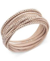 swarovski crystal leather bracelet images Swarovski slake crystal wrap bracelet jewelry watches macy 39 s tif
