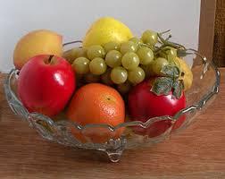 Fake Fruit Centerpieces by Antique Fruit Bowl Etsy