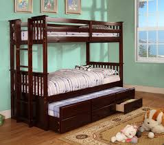 Bunk Bed With Trundle Bed Bedroom Bunk Bed With Trundle And Stairs Captain Bed