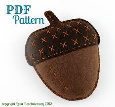 acorn sewing pattern felt acorn digital pattern beginner