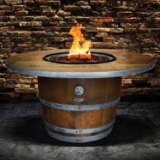wine barrel fire table enthusiast wine barrel fire pit table