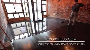designer metallic epoxy floor installation youtube