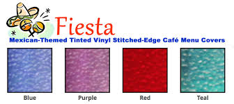 fiesta mexican u2022 tinted edge u2022 sewn double stitched cafe menu