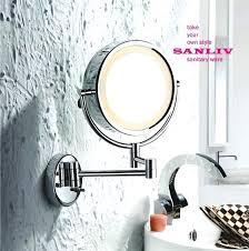 Lighted Wall Mount Vanity Mirror Vanities Wall Mount Lighted Sensor Activated Vanity Makeup