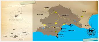 j bay south africa map getaways in jeffrey s bay cacadu district