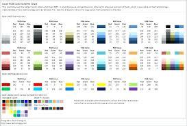 colour themes for excel excel color palette excel color schemes excel custom color palette