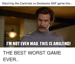 Not Even Mad Meme - watching the cardinals vs seahawks snf game like memes im not even