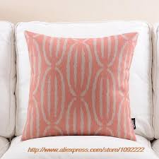 Red Decorative Pillow Nordic Red Decorative Pillows Pink Geometry Plaid Series Cushions