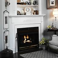Fireplace Mantels With Bookcases Cabinet And Corner Gas And Electric Traditional Wood