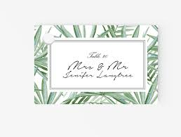 place cards editable ms word template diy tropical green