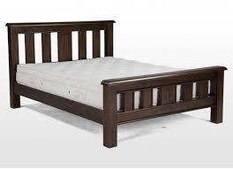 bed frame dark wood bed frame home designs ideas