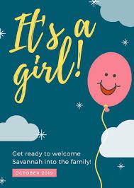 gender reveal announcements customize 45 gender reveal announcement templates online canva
