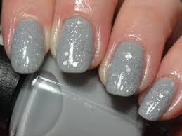 canadian nail fanatic gray glitter stamped nails