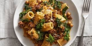 chickpea and kale rigatoni with smoky bread crumbs recipe