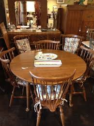ethan allen dining table w 6 chairs u0026 1 leaf by newleafgalleries