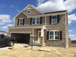 ryan homes milan new home construction experience exterior work