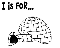 coloring page igloo coloring page preschool kids learning pages
