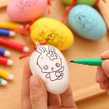 how to color easter eggs 4set easter eggs 4 watercolor pen educaitonal toys for children
