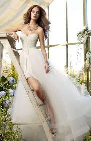 two in one wedding dress u0027 lace sweetheart mini with tulle overlay