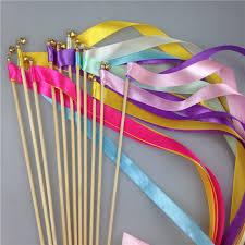 ribbon streamers set 20pcs lot light magic ribbon wand fairy fairy sticks with bells