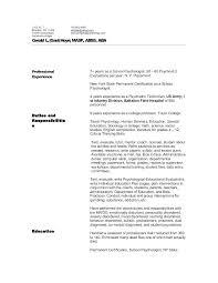 psychology resume template clinical psychology resume psychology resume template professional