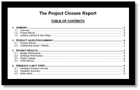 closure report template pm foundations the project closure report pm foundations
