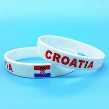 bracelet rubber images 2pcs croatia flag sport silicone bracelets id wrist band hologram jpg